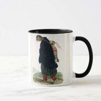 Mug Squaw de Chippeway et enfant, pub. par F.O.W.