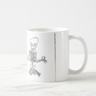 Mug squelette méditant