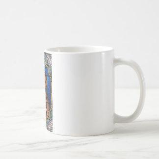 Mug St Bernard d'art en verre souillé de Clairvaux
