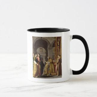 Mug St Clare recevant le voile de St Francis
