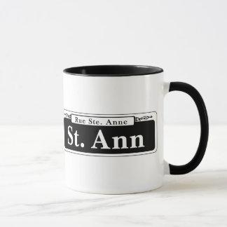 Mug St de St Ann, plaque de rue de la Nouvelle-Orléans