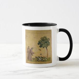 Mug St Francis d'Assisi prêchant aux oiseaux