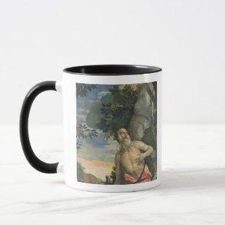 Mug St Jerome dans la pénitence (huile sur la toile)