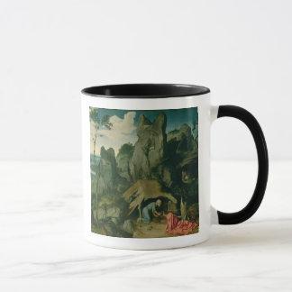 Mug St Jerome dans le désert (huile sur le panneau)