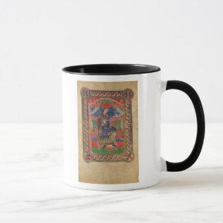 Mug St Radegund sur un trône