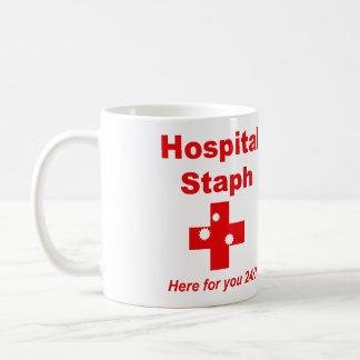 Mug Staphylocoque d'hôpital (rouge et blanc)