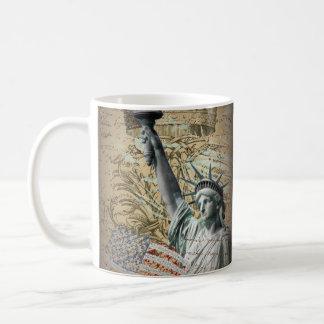 Mug Statue de New York de manuscrits de la liberté