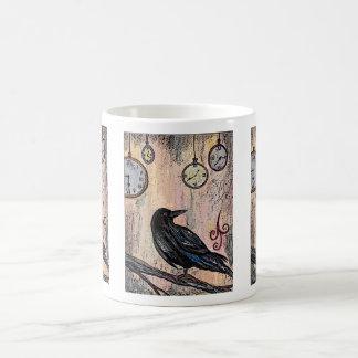 Mug Steampunk Raven avec des horloges