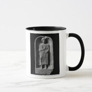 Mug Stela funéraire d'un homme, découvert dans le