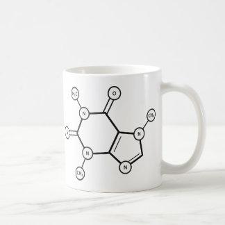 Mug structure moléculaire de caféine