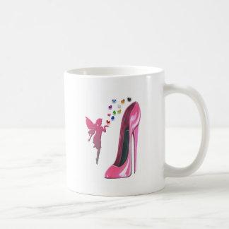 Mug Stylet et fée roses avec les coeurs 3D