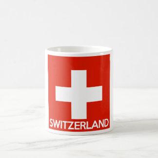 Mug Suisse des textes de nom de symbole de drapeau de