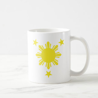 Mug Sun de base philippin et étoiles - jaune