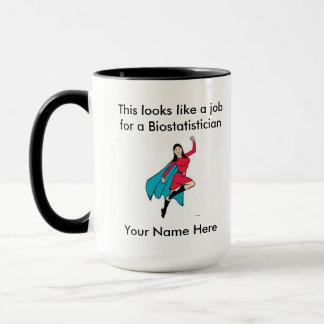 Mug Super héros de femelle de Biostatistician