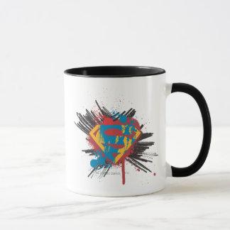 Mug Superman a stylisé le logo d'éclaboussure de |