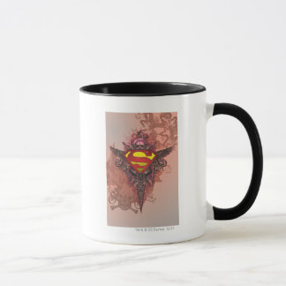 Mug Superman a stylisé le logo grunge de conception de