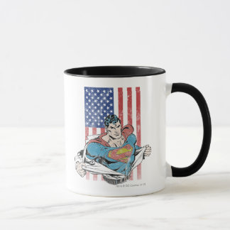Mug Superman et drapeau des USA