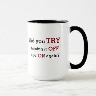 """Mug Support technique : """"Par intervalles encore """""""