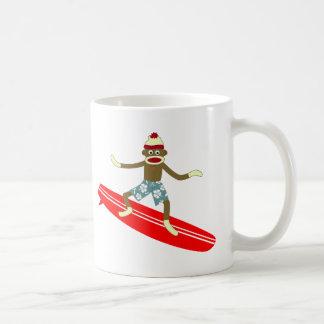 Mug Surfer de singe de chaussette