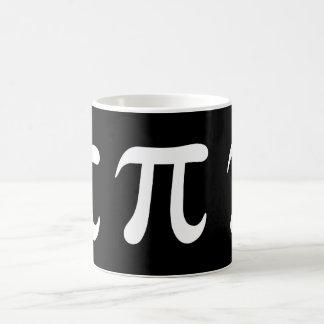 Mug Symbole blanc de pi sur l'arrière - plan noir