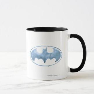 Mug Symbole de batte de café - bleu
