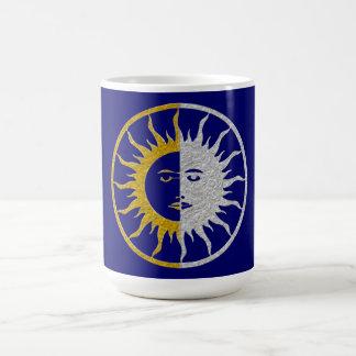 Mug Symbole du SOLEIL et de LUNE - argent d'or