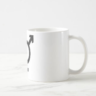 Mug Symbole noir de transsexuel
