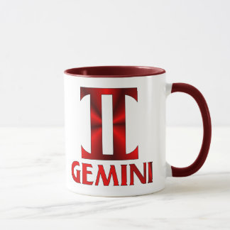 Mug Symbole rouge d'horoscope de Gémeaux