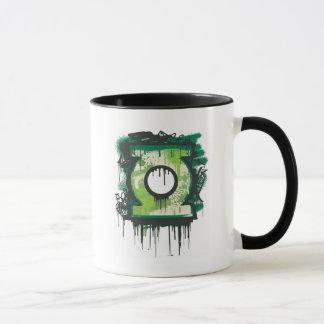 Mug Symbole vert de graffiti de lanterne