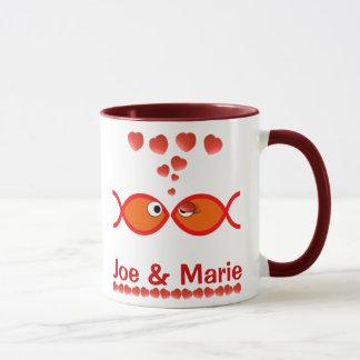 Mug Symboles chrétiens de Valentine - v1 orange