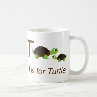 Mug T est pour la tortue