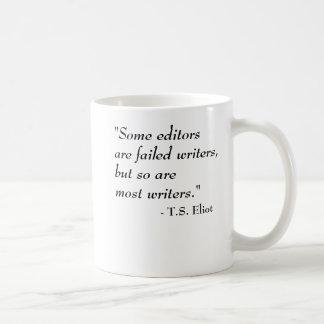 Mug T.S. Citation d'Eliot - auteurs