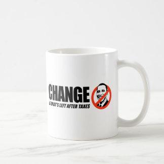 Mug T-shirt d'Anti-Obama - le changement est ce qui