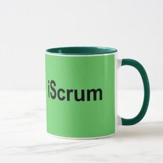 Mug T-shirt de bousculade de rugby d'iScrum