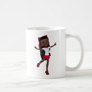 Mug T-shirt de fille d'école d'Afro-américain