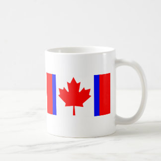 Mug T-shirts canadien de drapeau de dualité