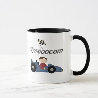 Mug T-shirts et cadeaux bleus de voiture de course