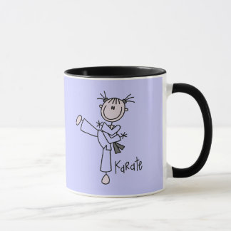Mug T-shirts et cadeaux de fille de karaté