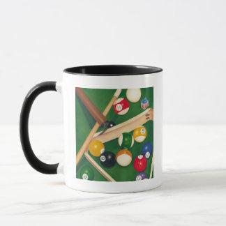 Mug Tableau de billards réaliste avec les boules et la