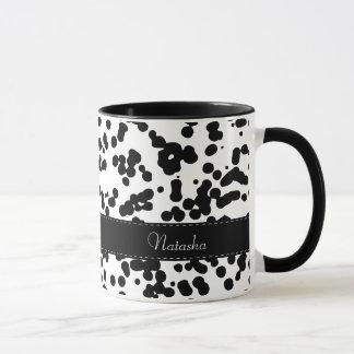 Mug Taches dalmatiennes noires et blanches