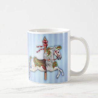 Mug Tachetez le cheval gris de carrousel
