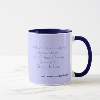 Mug tâchez d'être heureux
