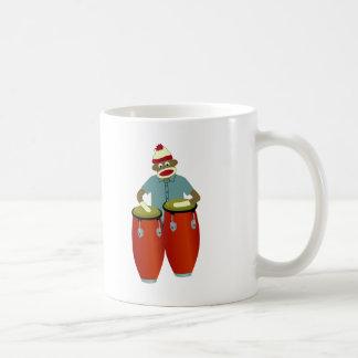 Mug Tambours de Conga de singe de chaussette