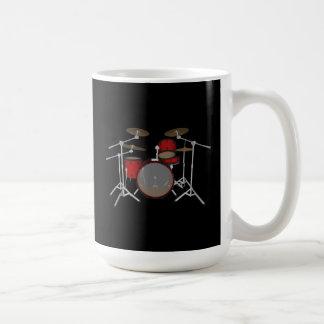 Mug Tambours : Kit de tambour rouge : modèle 3D :
