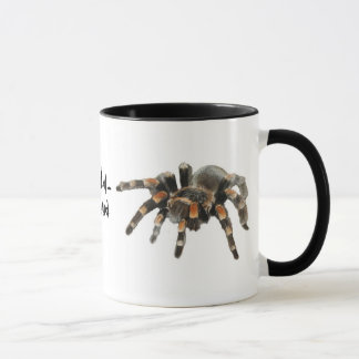 Mug Tarentule, tarantul-manie, grande araignée