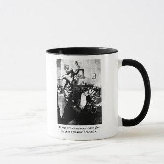 Mug Tarquin et sifflement bon marché