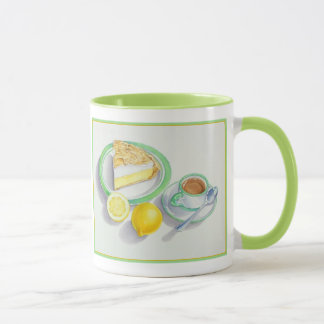 Mug Tarte de meringue de citron avec le café express