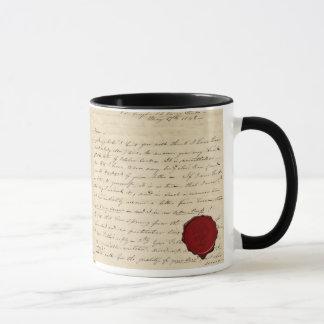 Mug, Tasse baroque lettre cachet de cire