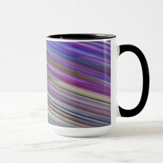 Mug Tasse. Rayures rapides multicolores