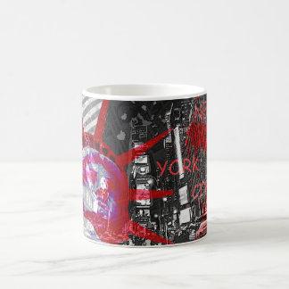mug tasse usa new york statue liberté rouge noir